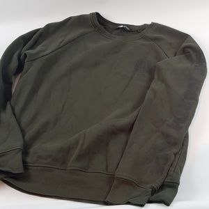 The north face green pullover sweatshirt large